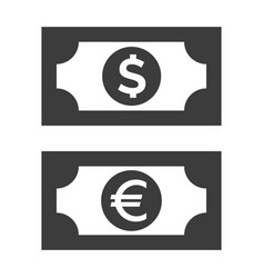 money icon on white background vector image