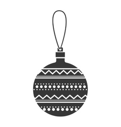 monochrome silhouette with decorative garland vector image
