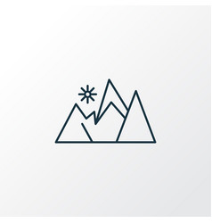 mountains icon line symbol premium quality vector image