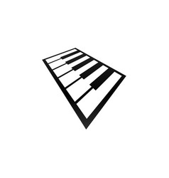 piano music logo and icon design vector image