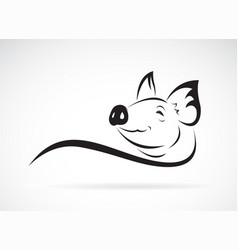 pig head design on white background animal farm vector image