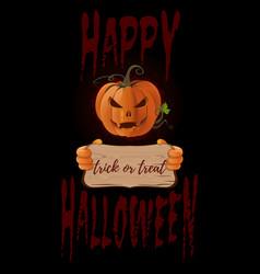 Poster concept design for halloween banner vector