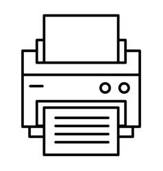 Printer thin line icon printout vector