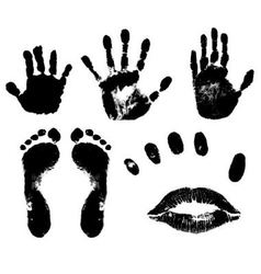 Prints body parts vector