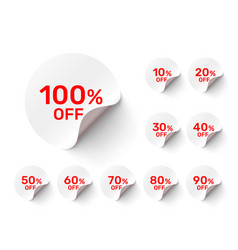 promotional round stickers vector image