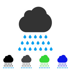 Rain cloud flat icon vector