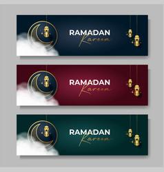 ramadan kareem banner islamic background vector image
