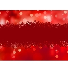Red background with snowflakes EPS 8 vector