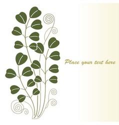 Retro floral vintage vector image