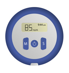 Round glucose meter icon realistic style vector
