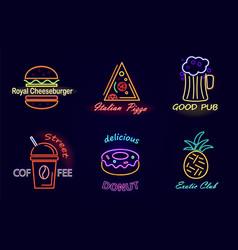 royal cheeseburger and pizza vector image