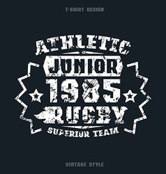 Rugby junior team emblem vector