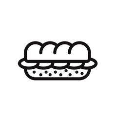 sandwich icon vector image
