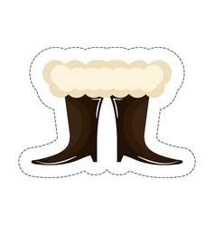 santa claus boots vector image