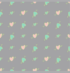 Seamless abstract background with love vector