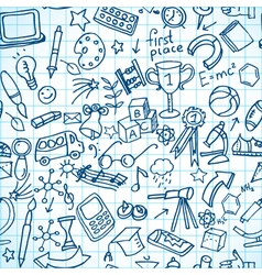 Seamless school doodles vector