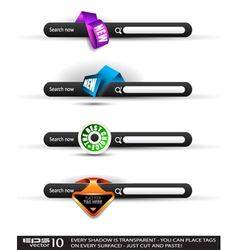 search banners vector image