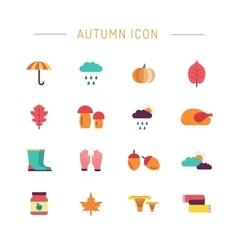 Set autumn icon vector