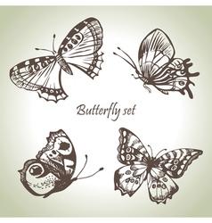 Set butterfly vector