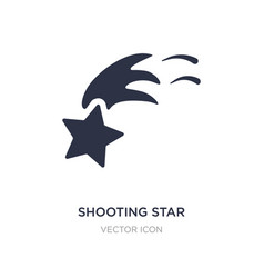 shooting star icon on white background simple vector image