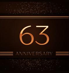Sixty three years anniversary celebration logotype vector