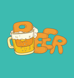 sketch pint tumbler of beer vector image