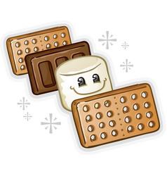 smores marshmallow cartoon vector image