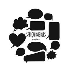 speech bubbles set 3 vector image