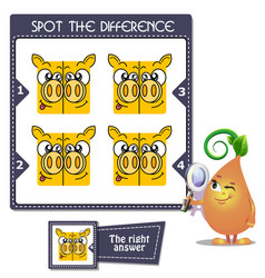 Spot the difference twins vector
