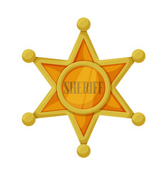 Star sheriff iconcartoon icon vector