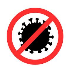 Stop-coronavirus sign silhouette vector