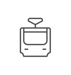 tram line icon and public transport concept vector image
