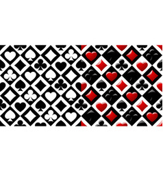 Two retro decorative chess cell seamless pattern vector