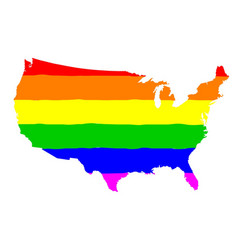 United states gay pride flag vector