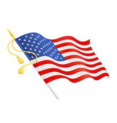 usa flag at handle national vector image