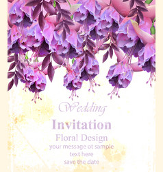 vintage floral banner or greeting card birthday vector image