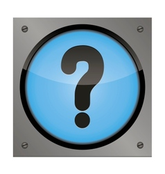 web button question on a steel plate vector image