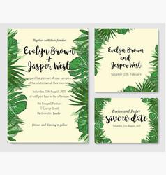 Wedding invitation save date rsvp invite vector