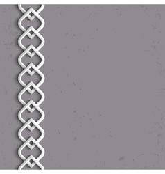 3d white border in arabic style vector
