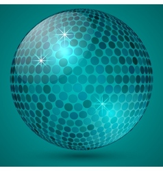 abstract shining crystal ball vector image
