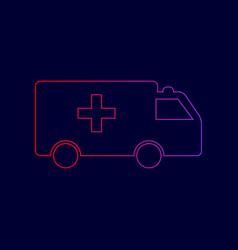 ambulance sign line icon vector image