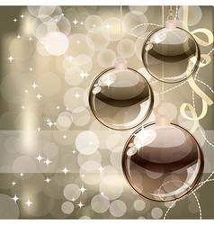Christmas background balls vector image