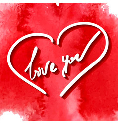 love you hand writing vector image vector image