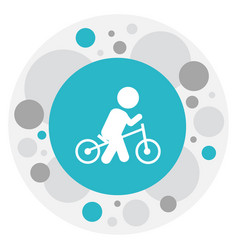 of baby symbol on wheels icon vector image