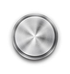 silver metal textured button vector image vector image
