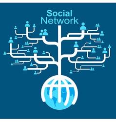social network globe worldwide vector image vector image