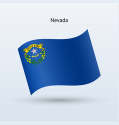 state of nevada flag waving form vector image