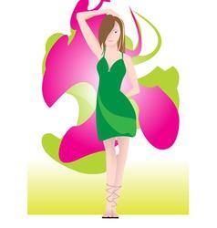 beautiful young woman vector image