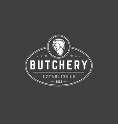 butchery shop logo template object for vector image vector image