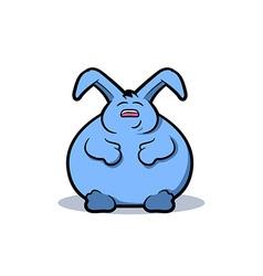 Fat Rabbit Cartoon vector image